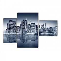 Огни ночного города - Модульная картины, Репродукции, Декоративные панно, Декор стен
