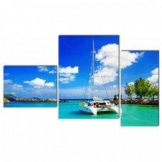 Картина на холсте по фото Модульные картины Печать портретов на холсте Карибское море