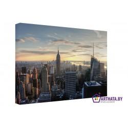 Фото на холсте Печать картин Репродукции и портреты - Панорама Манхэттена
