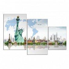 Картина на холсте по фото Модульные картины Печать портретов на холсте Города мира