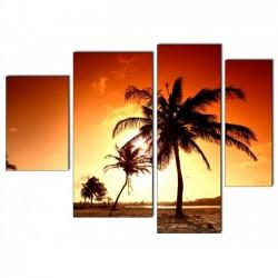 Африка, закат - Модульная картины, Репродукции, Декоративные панно, Декор стен