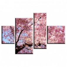 Картина на холсте по фото Модульные картины Печать портретов на холсте Красота сакуры