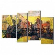 Картина на холсте по фото Модульные картины Печать портретов на холсте Золотой мост