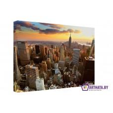 Картина на холсте по фото Модульные картины Печать портретов на холсте Небо большого города