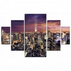 Картина на холсте по фото Модульные картины Печать портретов на холсте Empire State Building