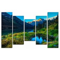 Портреты картины репродукции на заказ - Озеро в горах