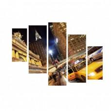 Картина на холсте по фото Модульные картины Печать портретов на холсте Ночной Нью-Йорк