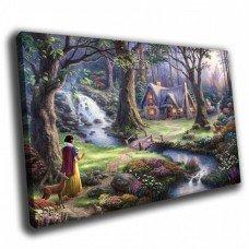 Картина на холсте по фото Модульные картины Печать портретов на холсте Сказочный лес