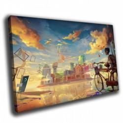 Велосипед - Модульная картины, Репродукции, Декоративные панно, Декор стен