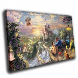 Замок вдали - Модульная картины, Репродукции, Декоративные панно, Декор стен