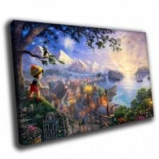 Картина на холсте по фото Модульные картины Печать портретов на холсте Пинокио