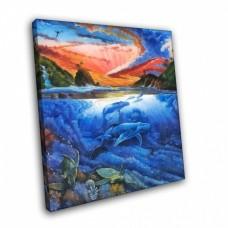 Картина на холсте по фото Модульные картины Печать портретов на холсте Воды океана