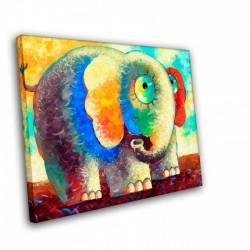 Цветной слон - Модульная картины, Репродукции, Декоративные панно, Декор стен