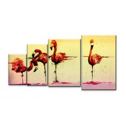 Фламинго - Модульная картины, Репродукции, Декоративные панно, Декор стен