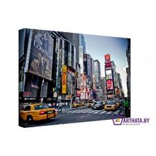 Картина на холсте по фото Модульные картины Печать портретов на холсте Таймс-сквер