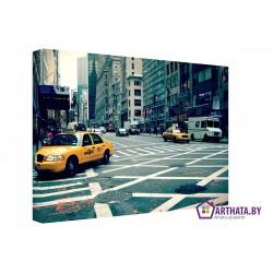 Нью-Йоркские такси - Модульная картины, Репродукции, Декоративные панно, Декор стен