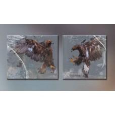 Картина на холсте по фото Модульные картины Печать портретов на холсте Птичий бой