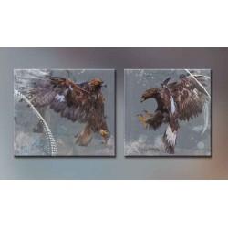 Птичий бой - Модульная картины, Репродукции, Декоративные панно, Декор стен