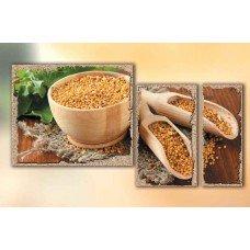 Картина на холсте по фото Модульные картины Печать портретов на холсте Урожай горчицы