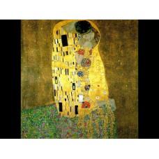 Картина на холсте по фото Модульные картины Печать портретов на холсте Густав Климт - Поцелуй