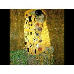 Фото на холсте Печать картин Репродукции и портреты - Густав Климт - Поцелуй