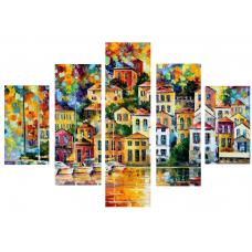 Картина на холсте по фото Модульные картины Печать портретов на холсте Леонид Афремов - Город