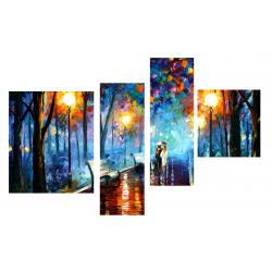 Под зонтом - Модульная картины, Репродукции, Декоративные панно, Декор стен
