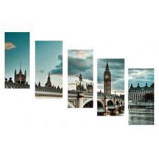 Картина на холсте по фото Модульные картины Печать портретов на холсте Модульная - Лондон