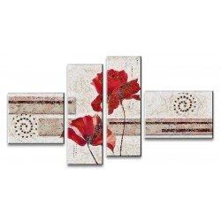 Цветы - Густав Климт - Модульная картины, Репродукции, Декоративные панно, Декор стен