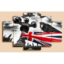 Флаг Британии - Модульная картины, Репродукции, Декоративные панно, Декор стен