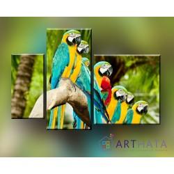 Жизнь в джунглях - Модульная картины, Репродукции, Декоративные панно, Декор стен
