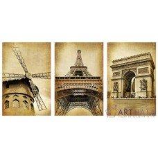 Картина на холсте по фото Модульные картины Печать портретов на холсте Великий Париж