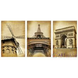 Великий Париж - Модульная картины, Репродукции, Декоративные панно, Декор стен