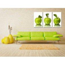 Картина на холсте по фото Модульные картины Печать портретов на холсте Зелёные яблоки