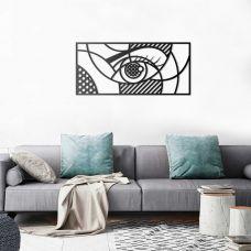 """Картина на холсте по фото Модульные картины Печать портретов на холсте Панно """"Всевидящее око"""" из металла"""