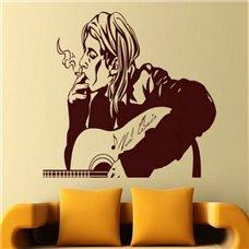 Картина на холсте по фото Модульные картины Печать портретов на холсте Трафарет Курт Кобейн