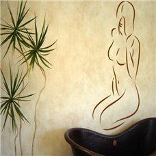 Картина на холсте по фото Модульные картины Печать портретов на холсте Трафарет Женственность