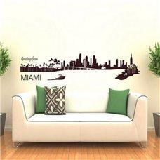 Картина на холсте по фото Модульные картины Печать портретов на холсте Трафарет Майами
