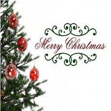 Картина на холсте по фото Модульные картины Печать портретов на холсте Трафарет Красочная надпись Merry Christmas!