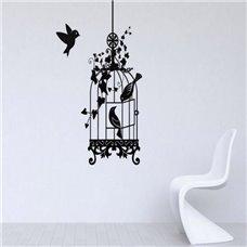 Картина на холсте по фото Модульные картины Печать портретов на холсте Трафарет Птичья клетка