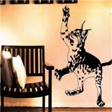 Картина на холсте по фото Модульные картины Печать портретов на холсте Трафарет Маленькая рысь