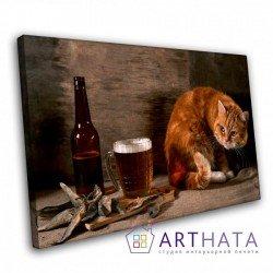 Фото на холсте Печать картин Репродукции и портреты - Картина в кафе