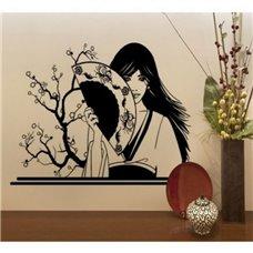 Картина на холсте по фото Модульные картины Печать портретов на холсте Трафарет Японская девушка