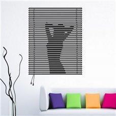 Картина на холсте по фото Модульные картины Печать портретов на холсте Трафарет Девушка в окне