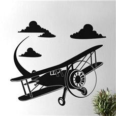 Картина на холсте по фото Модульные картины Печать портретов на холсте Трафарет Полет самолета