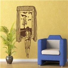Картина на холсте по фото Модульные картины Печать портретов на холсте Трафарет Девушка у окна