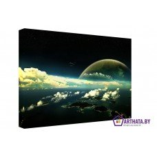 Картина на холсте по фото Модульные картины Печать портретов на холсте Облачный атлас
