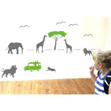 Картина на холсте по фото Модульные картины Печать портретов на холсте Трафарет Животные в Африке