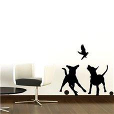 Картина на холсте по фото Модульные картины Печать портретов на холсте Трафарет Собачьи игры