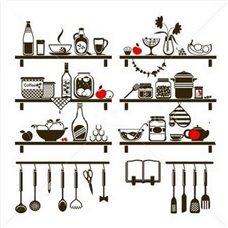 Картина на холсте по фото Модульные картины Печать портретов на холсте Трафарет Набор кухонных полочек